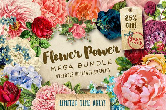 Flower Power Mega Bundle by Eclectic Anthology