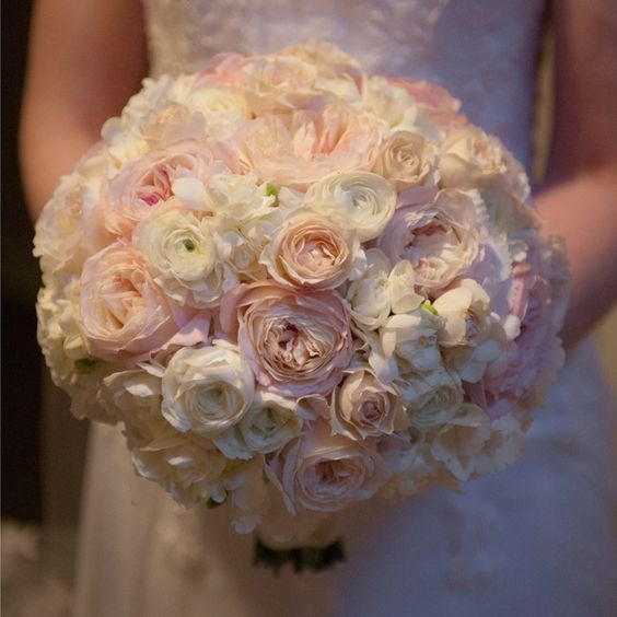 Blush Bridal Bouquet // Randy and April Wedding Photographer // Bella Flora of Dallas // http://www.theknot.com/weddings/album/a-romantic-feminine-wedding-in-dallas-tx-110661