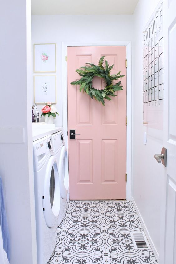 12 Inspiring Interior Door Paint Colors. Brand and Color names provided for each door listed.
