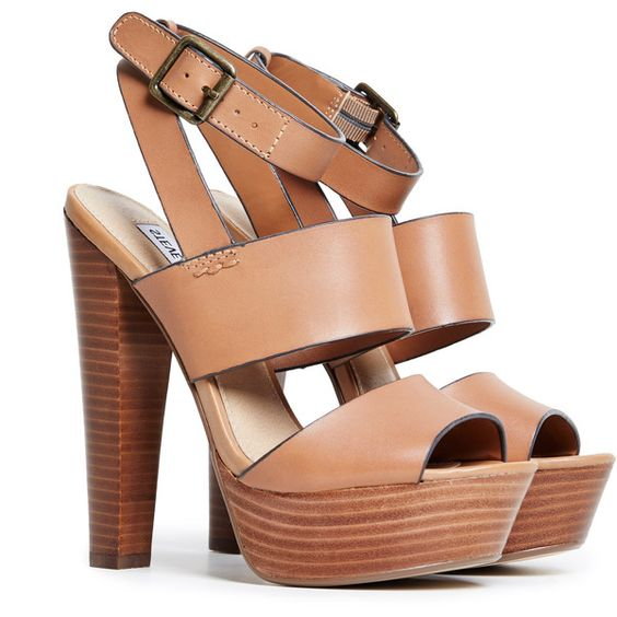 Steve Madden Dezzzy Platform Sandals found on Polyvore