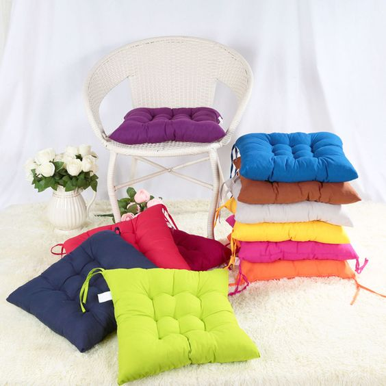 Soft Home Office Outdoor Square Cotton Seat Cushion Buttocks Chair Cushion Pads #Unbranded #AsianOriental