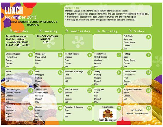 lunch menu for preschoolers daycare lunch menu preschool lunch menu lansdale day 580