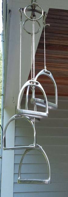 Horse stirrups Wind Chimes... would be cute using horse shoes too!
