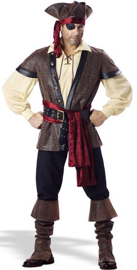Mens Rustic Pirate Costume