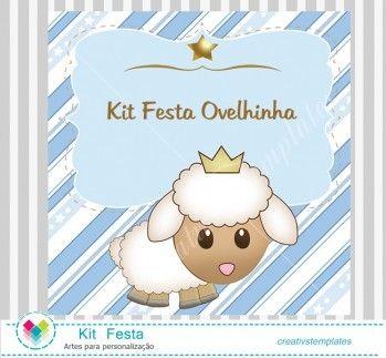 Kit Festa Ovelhinha para menino mod:768