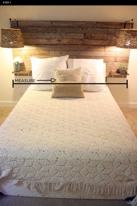 Têtes de lit à fabriquer soimême, Têtes de lit rustique