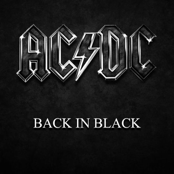 AC/DC – Back in Black (single cover art)