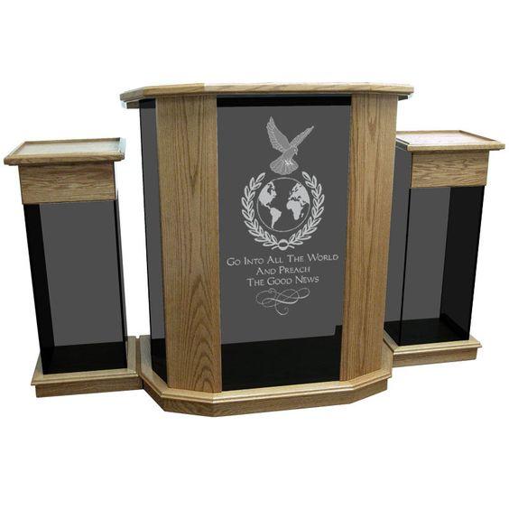 Church Furniture Store Rhema Glass Pulpit