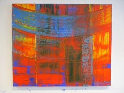 Rakeltechnik Der Anfang Eines Bildes Squeegee Technique The Beginning Youtube Abstrakte Kunst Malerei Inspirierende Kunst Idee Farbe