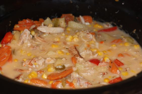 Crockpot Crab and Corn Chowder. This is the perfect recipe to warm you up on a cold night.