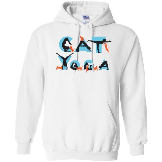 CAT YOGA - Pullover Hoodie 8 oz