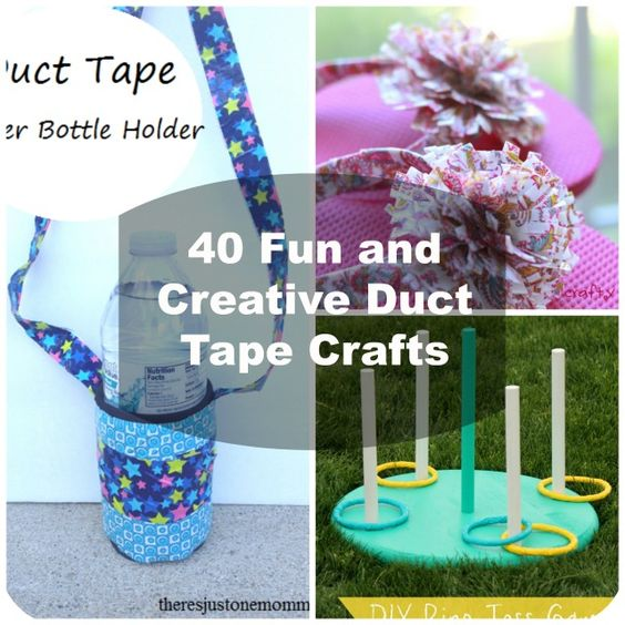 Duct tape crafts duct tape and craft projects on pinterest for Mini duct tape crafts