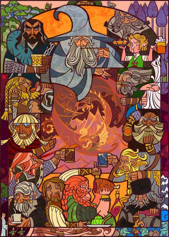 El señor de los anillos y el hobbit en vitrales...