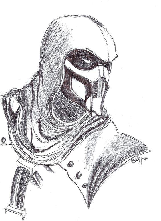 mortal kombat characters drawings