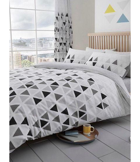 Cubix Reversible 3D Effect Duvet//Quilt Cover Sets With Matching Pillow Cases