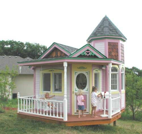 Playhouse plans diy playhouse and wooden playhouse on for Free playhouse blueprints