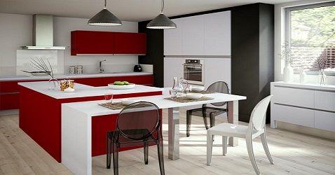 Lapeyre - Du rouge pour une cuisine modulable tendance http://goo.gl/GL9doS