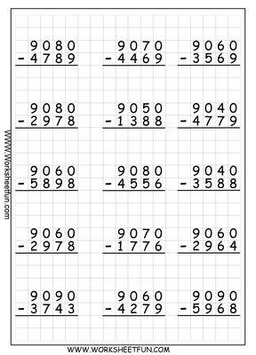 Subtraction Worksheets | sophie maths | Pinterest | Math ...