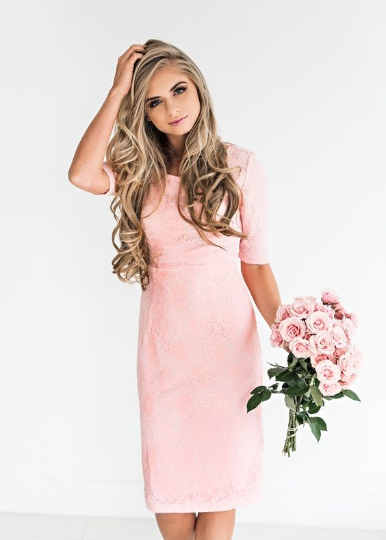 French Rose Lace Dress, JessaKae, New Arrivals, Lace, Lace Dress, Pink, Cute, Womens Fashion, Womens Style, Spring, Easter, Hair, Blonde, Makeup, Hair goals, Easter Dress, Spring Dress, Flirty, Girly, Flowers