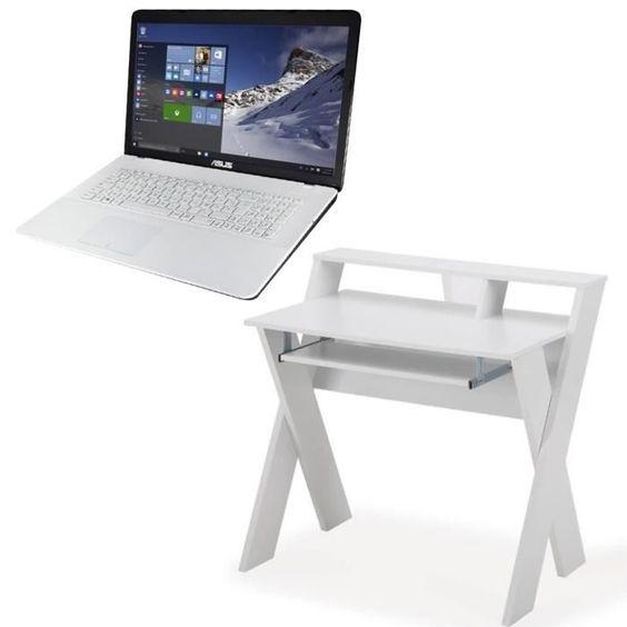 "449.99 € ❤ TOP #BonPlan #Geek - Ensemble #bureau 90 cm + #PC portable Asus 17.3"" Windows 10 - Ports USB 2.0x2 - HDMI - VGA - RJ45 - Port casque + micro - Webcam ➡ https://ad.zanox.com/ppc/?28290640C84663587&ulp=[[http://www.cdiscount.com/maison/meubles-mobilier/ensemble-bureau-90-cm-pc-portable-asus-17-3/f-1176006-bunkamaoblanc.html?refer=zanoxpb&cid=affil&cm_mmc=zanoxpb-_-userid]]"