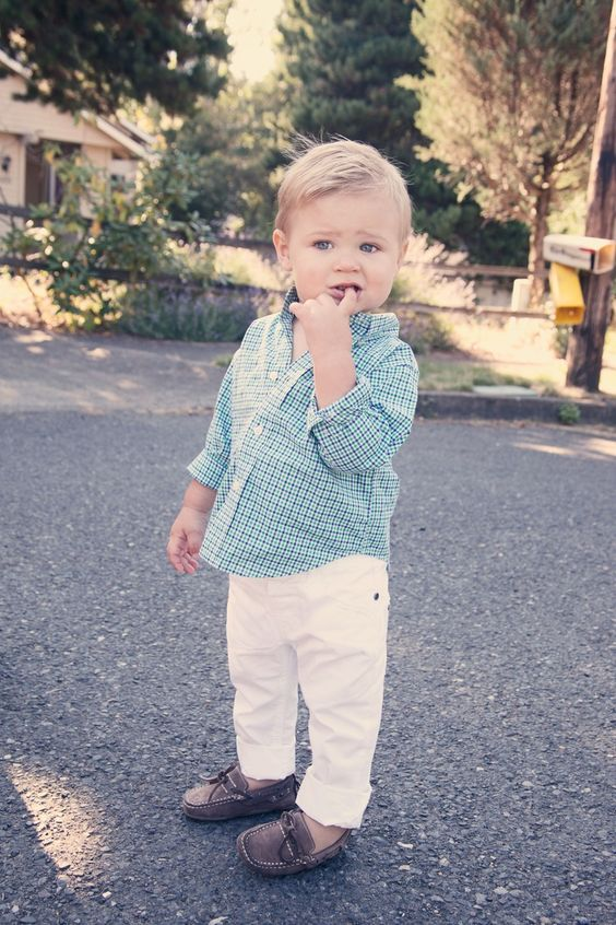 I don't have a boy, but I would imagine that if I ever did...he would look something like this and I would most definitely dress him this way..lol So CUTE!