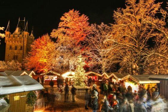 Castle Hohenzollern Germany - Prussian Royal House - Königlicher Weihnachtsmarkt auf Burg Hohenzollern bei Bisingen Deutschland