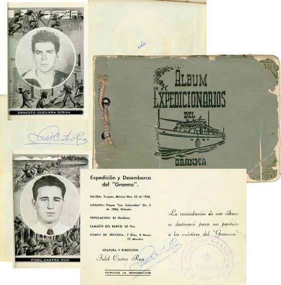 FIDEL CASTRO \ CHE GUEVARA SIGNED 1956 ALBUM PICS Cuban - rückwand für küche