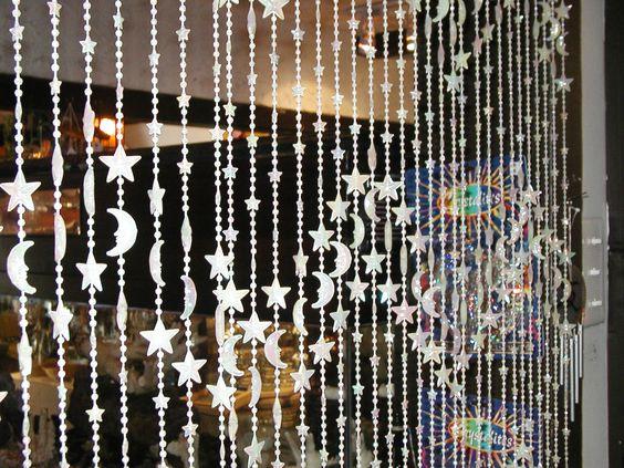 Stars & Moons Beaded Curtain - Glow Dark - 3 ft x 6 ft   Glow ...
