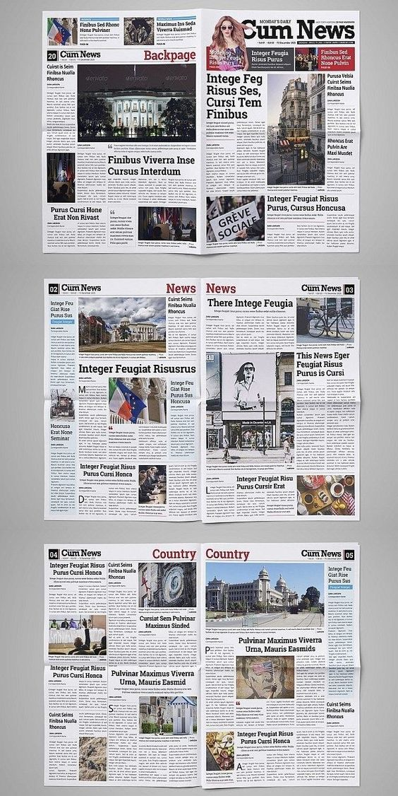 20 Pages Daily Newspaper Template Design Newspaper Design Newspaper Template Design Indesign Newspaper Template