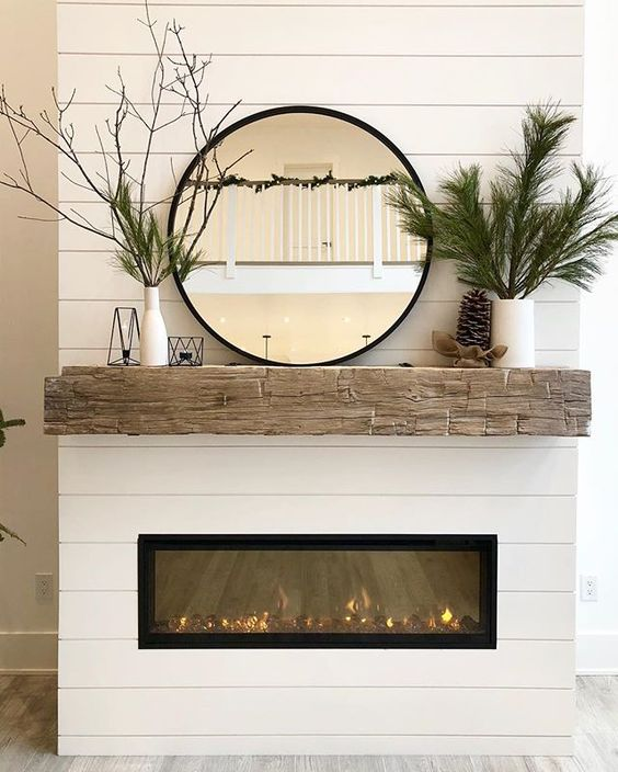 """A House We Built on Instagram: """"I'm so happy with our new """"winter mantle"""" decor!! It always makes me sad to completely take down Christmas decor so instead of removing…"""""""