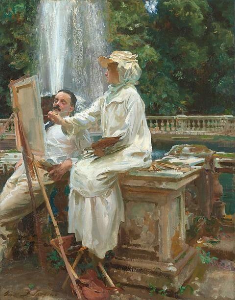 John Singer Sargent - The Fountain, Villa Torlonia, Frascati, Italy – 1907