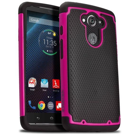 Amazon.com: Droid Turbo Case, Aero Armor Case for Motorola Droid Turbo (All Verizon version) - Hot Pink (Also Compatible with Ballistic Nylon Version): Cell Phones & Accessories