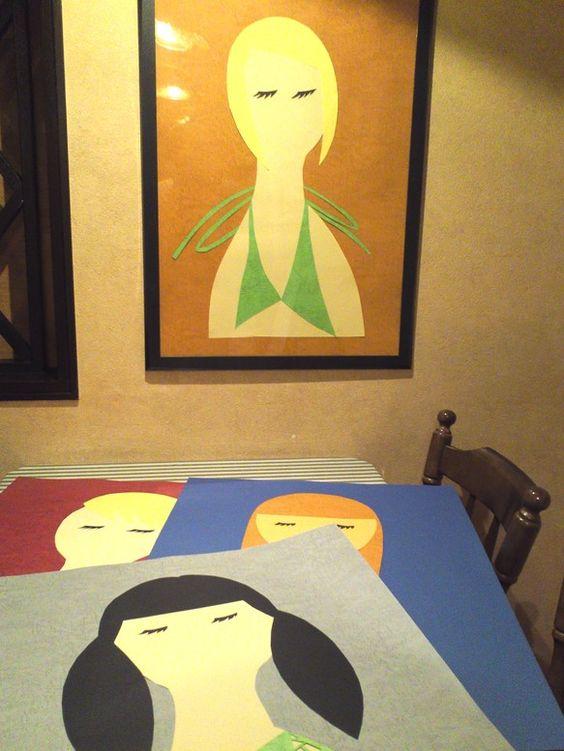 「kanojo」…サイズ50×70cmサイズが横50cm、縦70cmなので存在感がありますが主張しないよう制作しました。和室にも洋室...|ハンドメイド、手作り、手仕事品の通販・販売・購入ならCreema。