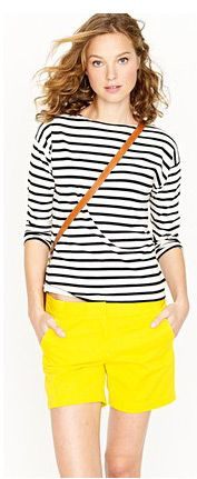 Stripes and pop of yellow.