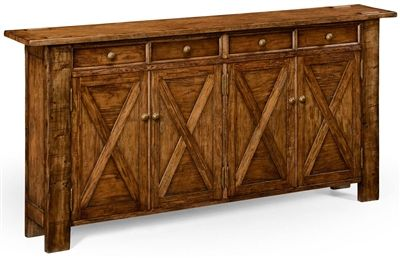 Narrow Sideboard with drawers and doors.