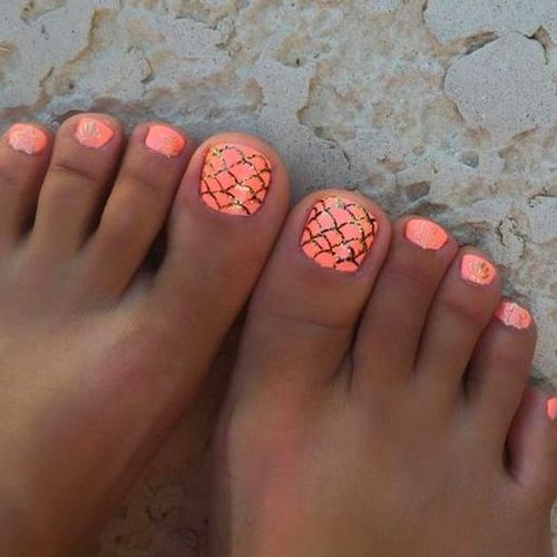 Summer Toes 40 Best Summer Toe Nail Art For 2019 Favnailart Com Summer Toe Nails Beach Toe Nails Cute Toe Nails