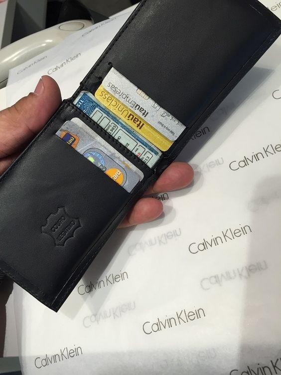 Ck,calvin Klein,carteiras,couro,original,masculina,promoção. - R$ 29,99