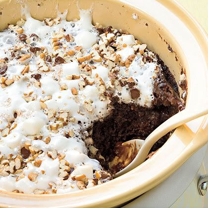 40 desserts in the crock pot.