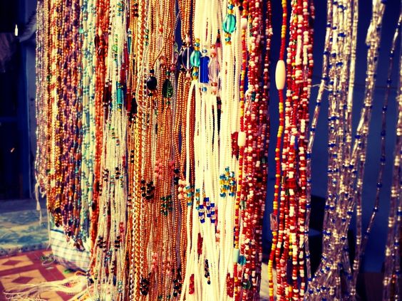 waist beads.