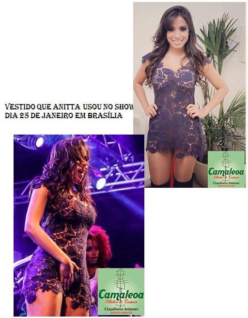 CLAUDINEIA ANTUNES: Vestido de Renda que Anitta usou Show em Brasilia