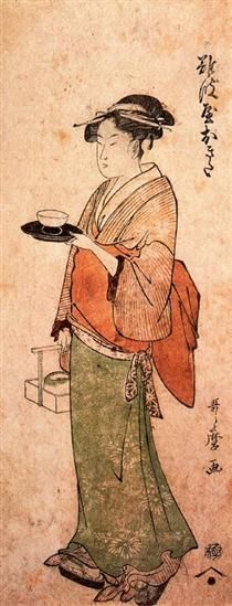 Okita the tea house girl Kitagawa Utamaro
