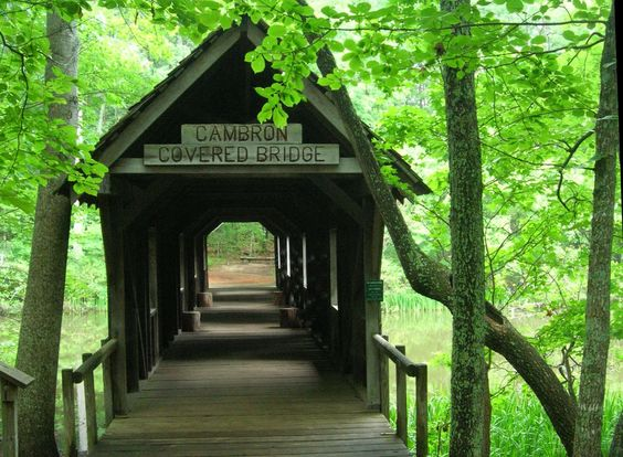 Cambron Covered Bridge, Huntsville, Alabama - I posted this because I love covered bridges!  Growing up, visited Freedom, Indiana every summer where there was a really cool covered bridge.  Love childhood memories!