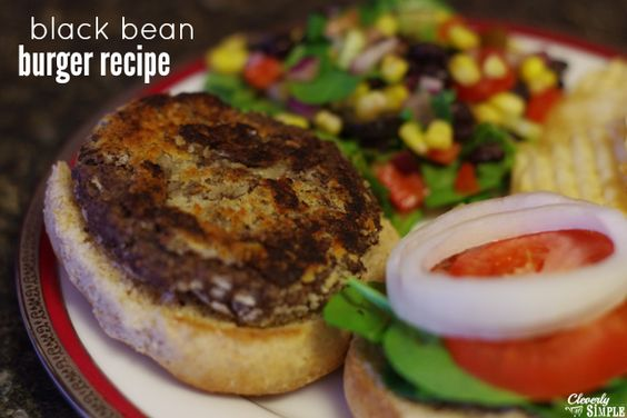 Black bean burgers, Bean burger and Black beans on Pinterest