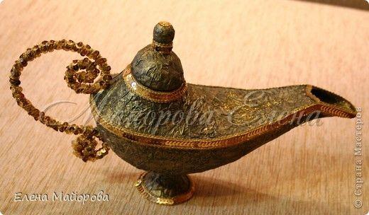 Clase magistral, la artesanía, Simulación: La lámpara de Aladino.  Mini MK papel, pegamento, pintura, espuma, alambre, cinta, cuerda.  Foto 1