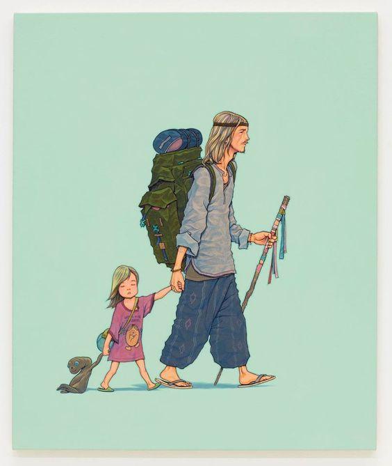 Já ensinando a melhor maneira de viajar para a pequena | Foto: Divulgação.