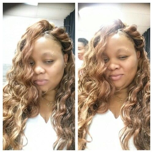 Crochet braids. Outre Batik loose deep; #30, #4/30, & #27. Long hair ...