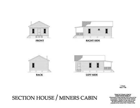 Planos del  Barracon Minero con Porche