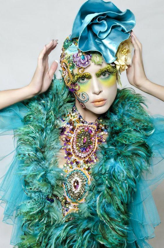..beautiful: Fantasy Fashion Hair, Blue Green, Aqua Turquoise, Costume Hats, Fashion Photography, Blue Flower, Fashion Editorial, Mad Hatter