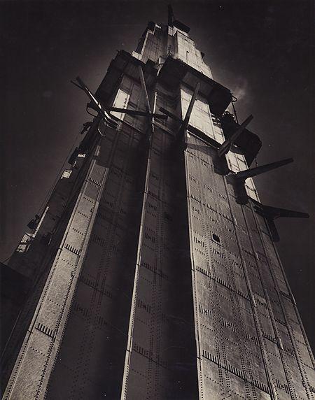 Horace Bristol, Tower, Golden Gate Bridge, 1936. {Dorothea Lange, 75th Anniversary Exhibit}