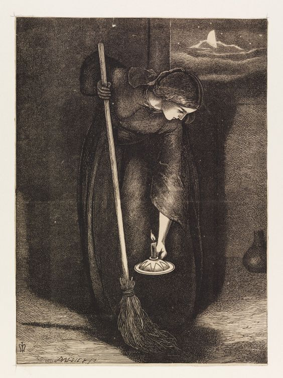 """The Parable of the Lost Piece of Silver"" -J.E. Millais"